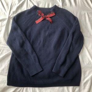 J Crew Plaid Bow Neck Sweater